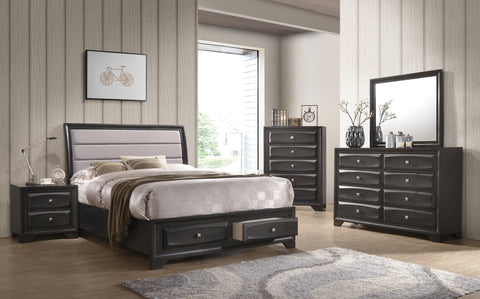 FURNITUREMATTRESSDIRECT-CHAMBER TRIMMED BEDROOM SET - INT-BS218