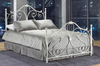 FURNITUREMATTRESSDIRECT-HEADBOARD - WHITE METAL G-HB100