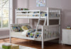 Twin/Full Bunk Bed- White