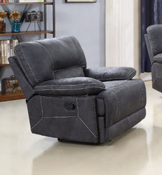 FURNITUREMATTRESSDIRECT-HIGH TECH RECLINER-GREY- A-AC115