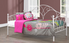 FURNITUREMATTRESSDIRECT-DAY BED WITH METAL AND SINGLE TRUNDLE BED IN WHITE-A-TB114
