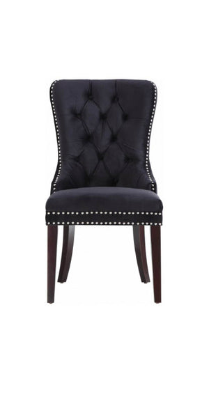 FURNITUREMATTRESSDIRECT-Velvet Dining Chair in Black INT-CHA110