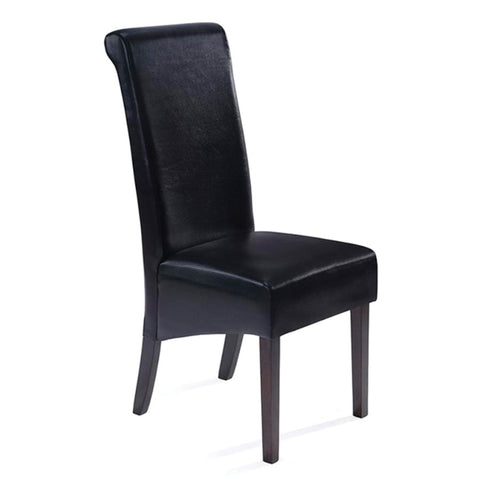 furnituremattressdirect-Parson Dining Chair-Black