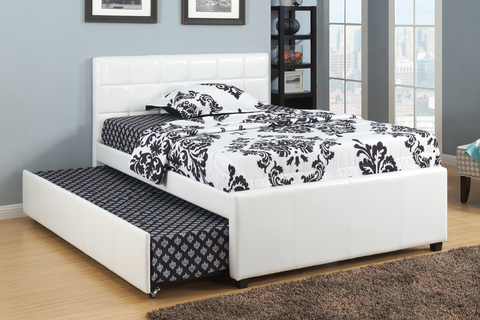 Trundle Bed in White