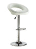 FURNITUREMATTRESSDIRECT-BAR STOOL WITH CURVED BACK & 360° SWIVEL LEATHER SEAT IN WHITE D-BS111