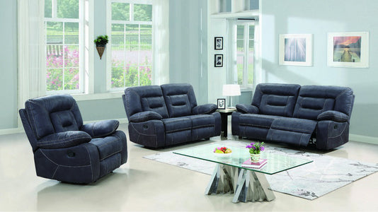 FurnitureMattressDirect-3-PIECE SOFA SET- HIGH TECH FABRIC AND CONTRAST STITCHING-GREY A-SS106