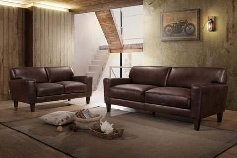 FURNITUREMATTRESSDIRECT-3-PC RECLINER SOFA SET IN BROWN A-SS119