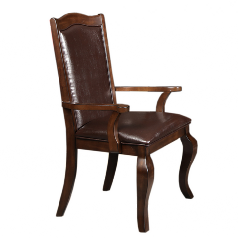 furnituremattressdirect-Walnut Arm Chair- Dining
