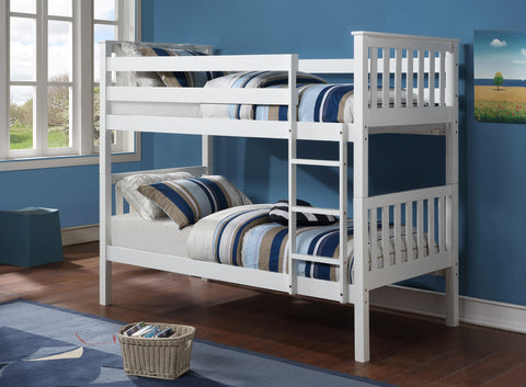 Twin/Twin Bunk Bed   -White