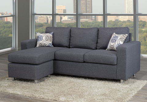 Image of Reversible Sofa Sectional-Grey