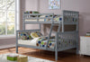 Twin/Full Bunk Bed-Grey