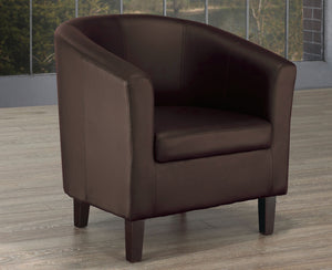 FURNITUREMATTRESSDIRECT-TUB CHAIR - ESPRESSO A-AC107