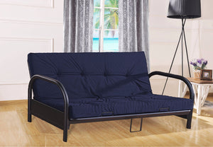 FurnitureMattressDirect-Metal Futon Blue/Black  A-FT100