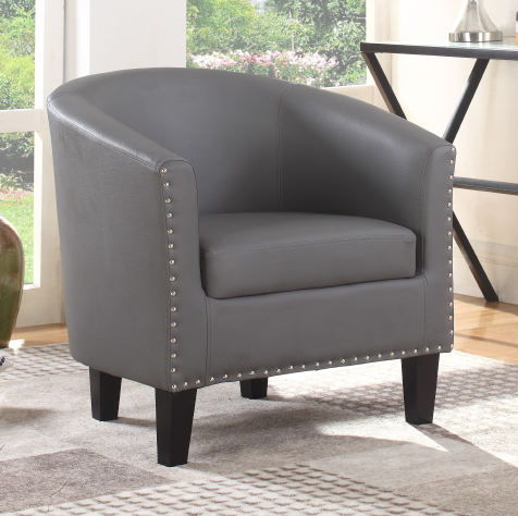 FURNITUREMATTRESSDIRECT-TUB CHAIR  - GREY/BLACK/WHITE A-AC111