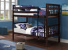 Twin/Twin Bunk Bed-Espresso