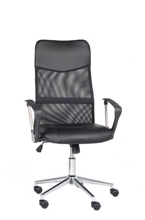 FurnitureMattressDirect-Office Chair in Black-NATOFFCHA100