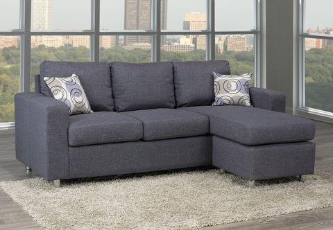 Reversible Sofa Sectional-Grey