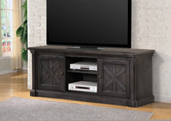 FURNITUREMATTRESSDIRECT-TV STAND - GREY FINISH F-TS100