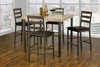 FURNITUREMATTRESSDIRECT-Pub Set with Chairs - 5 pc - Light Brown | Beige E-PS105