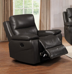 FURNITUREMATTRESSDIRECT-LEATHER RECLINER SET IN GREY A-AC117