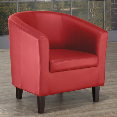 FURNITUREMATTRESSDIRECT-TUB CHAIR - RED A-AC109
