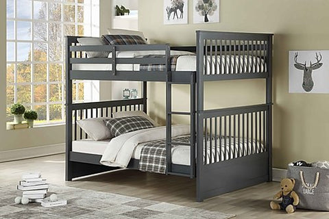 Full Over Full Bunk Bed in Grey