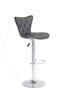 FURNITUREMATTRESSDIRECT-GREY TUFTED BAR STOOL WITH LEATHER D-BS109