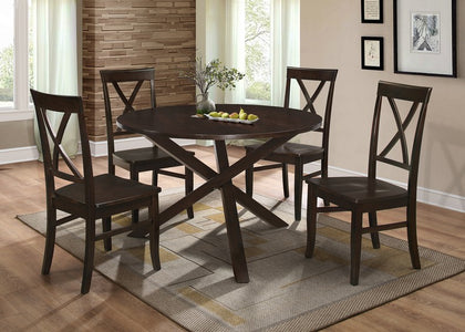 FURNITUREMATTRESSDIRECT-DINETTE SET WITH MODERN DESIGN IN ESPRESSO H-KS124