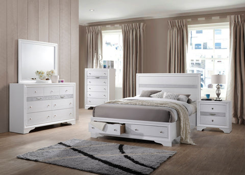 Stacey Queen Bedroom Set in White