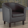 FURNITUREMATTRESSDIRECT-TUB CHAIR - BLACK A-AC108