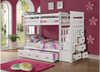 Twin Over Twin Trundle Bunk Bed with Staircase and Drawers