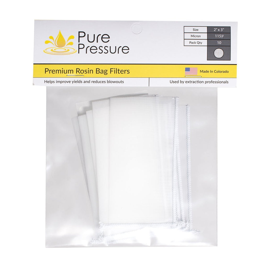 Pure Pressure 115 Micron Rosin Press Filter Bags for Flower Rosin (10 - 1000 Pack) - 13Leafz