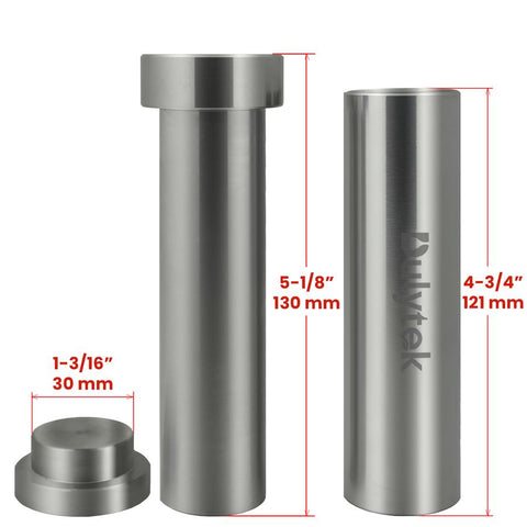Dulytek Hammer Style Pre-Press Pollen Mold Stainless Steel | XL Size - 13Leafz