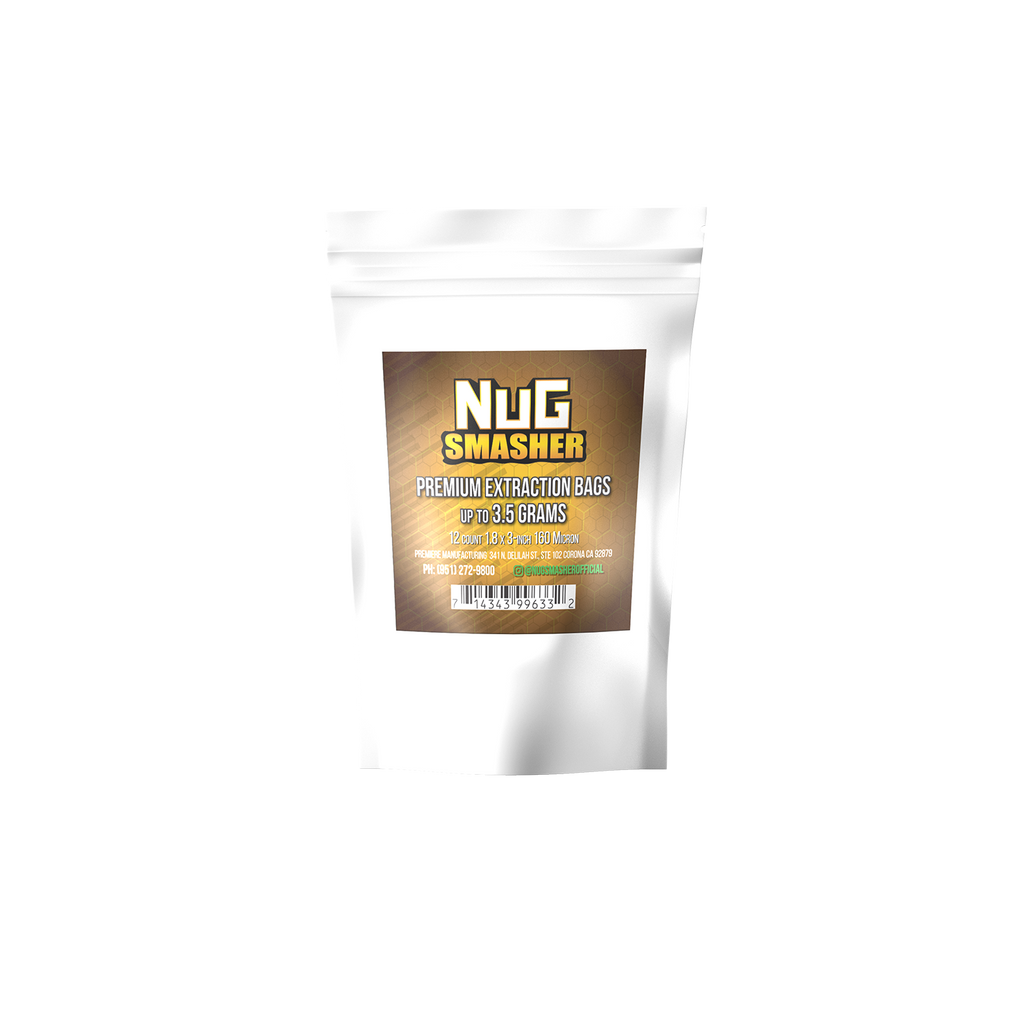 NugSmasher 3.5 Gram Rosin Extraction Bags | 37, 90, 120, 160 Micron (12 Pack) - 13Leafz