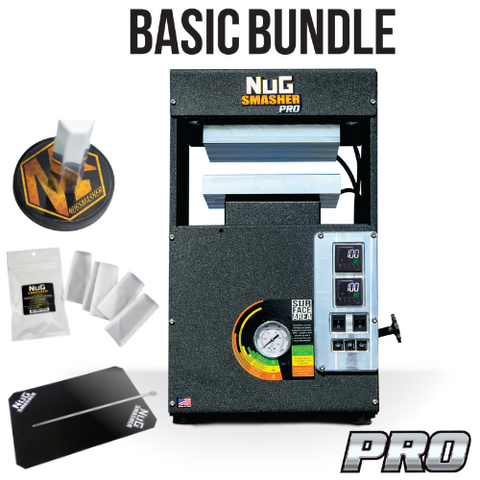 NugSmasher Pro 20 Ton Pneumatic / Manual Rosin Press | Basic Bundle - 13Leafz