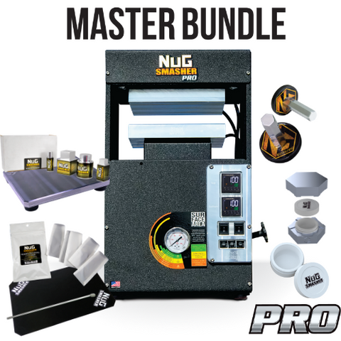 NugSmasher Pro 20 Ton Pneumatic / Manual Rosin Press | Master Bundle - 13Leafz