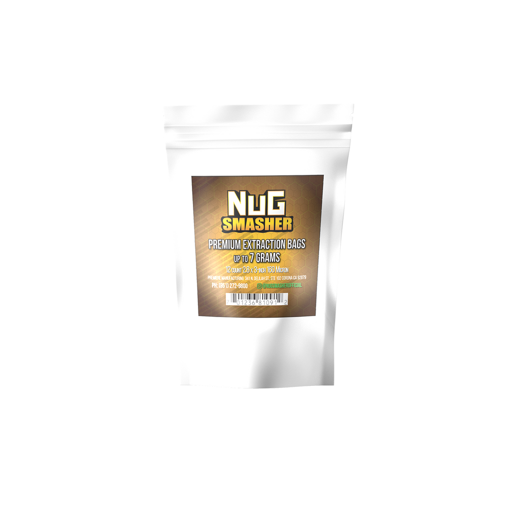 NugSmasher 7 Gram Rosin Extraction Bags | 37, 90, 120, 160 Micron (12 Pack) - 13Leafz