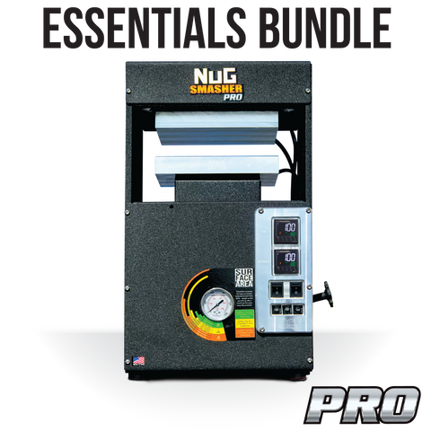 NugSmasher Pro 20 Ton Pneumatic / Manual Rosin Press | Essentials Bundle - 13Leafz