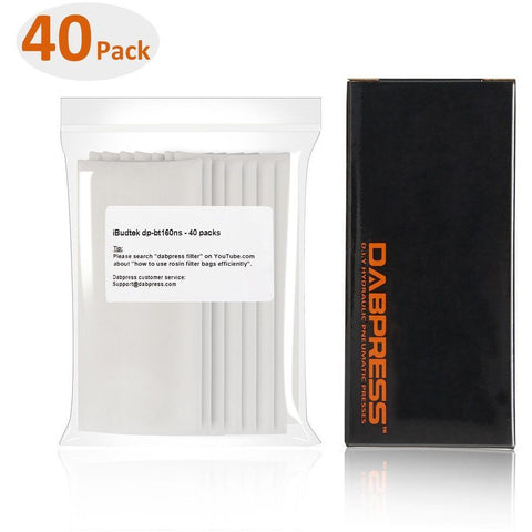 "Dabpress 2x4"" Rosin Press Stitched Extraction Filter Bag 160 Micron (40 pack) - 13Leafz"