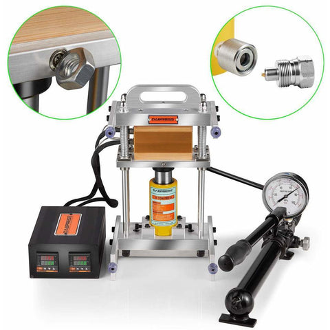 Dabpress 10 Ton Tabletop Driptech Hydraulic Rosin Press Kit - 13Leafz