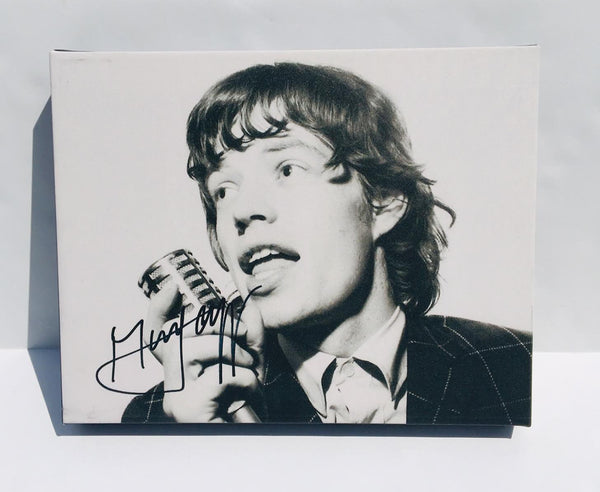 Buy mick jagger rolling stones autographed rp 11x14 canvas print wall art at AtomicMall.com