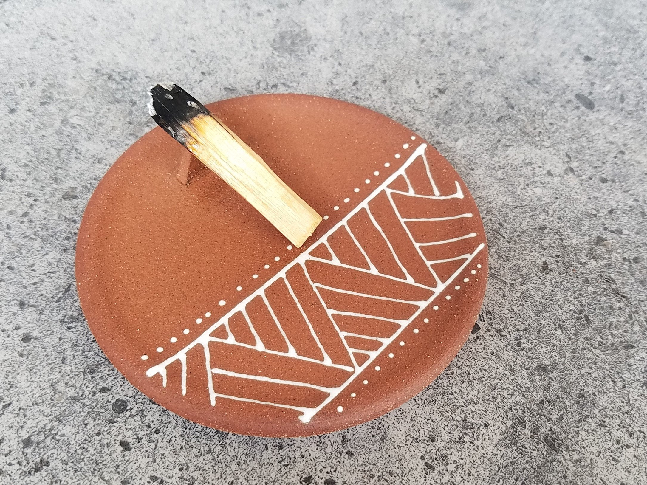 Palo Santo Holder - Geometric - WS