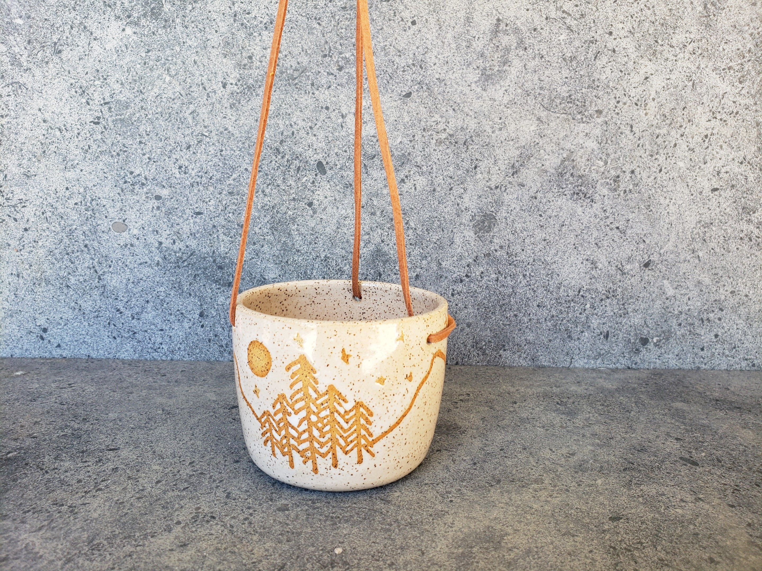 Hanging Planter - Speckled Mountain