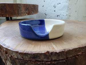 Spoon Rest - Blue/White