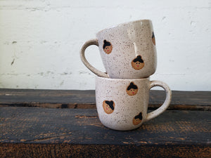 Cappuccino Mug - Speckled Faces