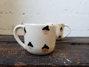 Cappuccino Mug - White Faces