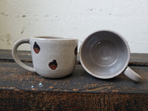 Cappuccino Mug - Brown Faces