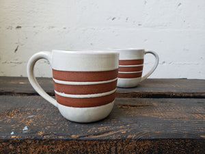 Cappuccino Mug - Brown Stripes