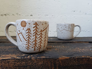 Cappuccino Mug - Speckled Mountain