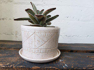 Tabletop Planter - Speckled White Suns and Mountains